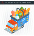 food delivery truck vector image vector image