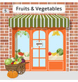 fruits and vegetables shop vector image vector image
