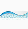 grey blue abstract waves with minimal geometric vector image vector image