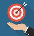 Hand with target and arrow vector image vector image