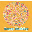 Happy Birthday card Birthday party background vector image vector image