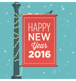 happy new year 2016 card sign street vector image vector image