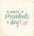 happy presidents day vintage usa greeting card vector image vector image