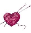 Heart of yarn vector image vector image