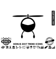 Helicopter Flat Icon With 2017 Bonus Trend vector image vector image