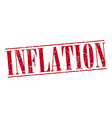 inflation red grunge vintage stamp isolated on vector image vector image