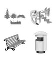 isolated object of park and city symbol vector image