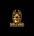 logo bulldog e-sport and sport style vector image