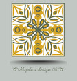 majolica traditional ceramic tile in nostalgic vector image vector image