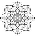 mandala art design element for adult coloring vector image