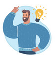 mans hand up and he have an idea vector image vector image