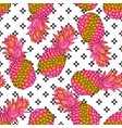 pineapple creative trendy seamless pattern vector image