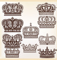 royal crowns for design vector image vector image