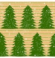 Seamless pattern with fir trees and stripes vector image
