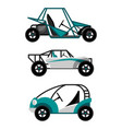 set different buggy cars on vector image vector image