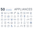 Set Flat Line Icons Appliance vector image vector image