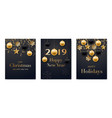 set of holidays greeting cards collection of vector image