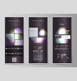 set of roll up banner stands abstract geometric vector image