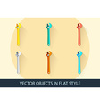 Set of wrench key sign icon Service tool symbol vector image vector image