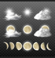 set realistic weather icons vector image