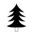silhouette natural pine tree with trunk design vector image vector image