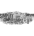 simplify word cloud concept vector image vector image