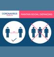 social distancing 1 meter in public places vector image vector image