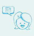social media design multimedia icon white vector image vector image