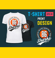 sportswear t-shirt with print for basketball team vector image