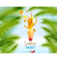 Summer holidays with cocktail vector image vector image