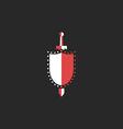 sword and shield logo mockup design element vector image