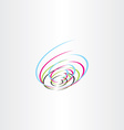 tech colorful logo spiral icon vector image