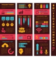Technology Industry Infographic Elements vector image vector image