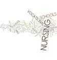 the nurse is in text background word cloud concept vector image vector image
