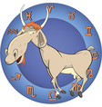 The year of the goat horoscope cartoon vector image