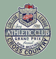 vintage college league track field cross country vector image