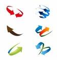 3D Global Arrow Icon Set vector image