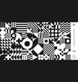 abstract bauhaus geometric pattern circle