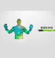 abstract silhouette boxer fighter boxing gloves vector image