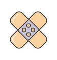adhesive plaster linear icon vector image vector image