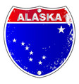 alaska interstate sign vector image vector image