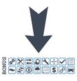 Arrow Down Flat Icon With Bonus vector image