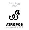 astrology asteroid atropos vector image vector image