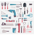 big set cartoon building tools repair home vector image vector image