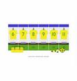 brazil football or soccer team dressing room vector image