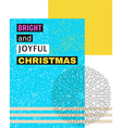 Bright and Joyful Christmas vector image vector image