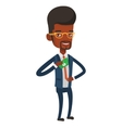 Business man putting money bribe in pocket vector image vector image