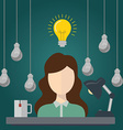 Business woman with ideas Business womanwith vector image