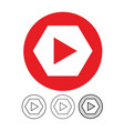 button video player icon vector image vector image