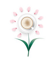 cappuccino coffee flower vector image